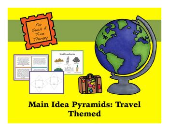 Travel Themed Main Idea Pyramids