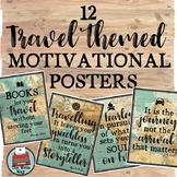 Travel Themed Motivational Quote Posters