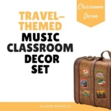 Travel-Themed Music Classroom Decor Set