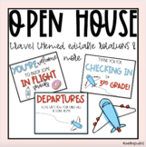 Travel Themed Open House (editable)