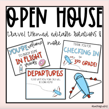 Travel Themed Open House (editable)