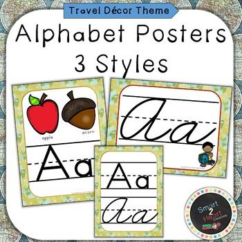 Travel Themed Print Alphabet Posters