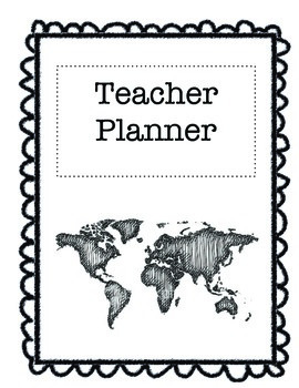 Travel-Themed Teacher Planner
