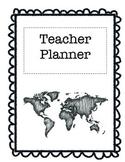 Travel-Themed Teacher Planner