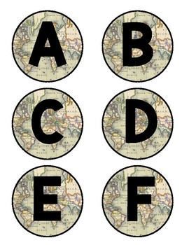Travel Themed Word Wall Letters