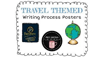 Travel Themed Writing Process Posters