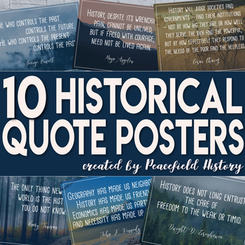 history quote posters for any social studies classroom by peacefield