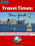 4th Grade Travel Times: NEW YORK Real-World Word Problems (4.OA.1-4)