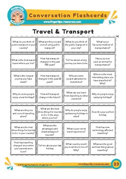 Travel & Transport - Conversation Flashcards