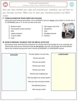 Travel & Transportation (C): Airport Security Check  (Adult ESL)