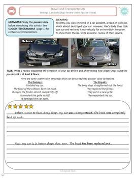 Travel & Transportation (Unit B Packet): Car Trouble, passive voice (Adult ESL)