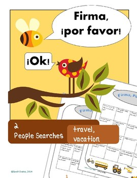 Travel & Transportation, Vacations: 2 Spanish Communicative Activities