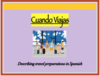 Travel Unit Spanish 1 Worksheets & Teaching Resources | TpT