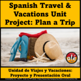 Spanish Travel & Vacation Planning a Trip Project and Oral