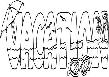 Travel & Vacation Coloring Pages - 28 Pages!