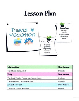 Travel & Vacation Lesson