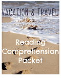 Travel & Vacation Vocabulary / Reading Comprehension ELD