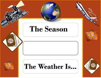 Travel Weather Chart! Travel Bulletin Board! Travel Theme!