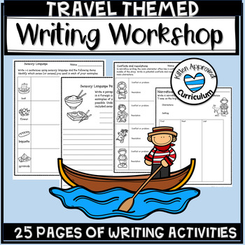 Travel Writing Prompt - Opinion, Narrative, and Sensory Detail Prompts