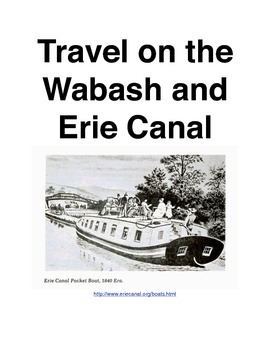 Travel along the Wabash-Erie Canal