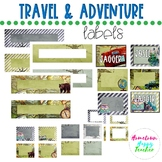 Travel Theme Tags and Labels | EDITABLE