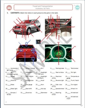 Travel & Transportation (Unit A Packet): Car Parts & Maintenance (EL Civics)