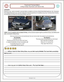 Travel and Transportation (A): Writing a car repair review (passive voice)