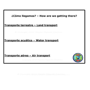 Travel and Transportation Project and Game