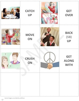Personal Life (A): Relationships Phrasal Verbs Matching Cards