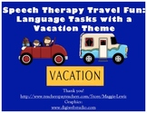 Travel and Vacation Speech Therapy Language Pack