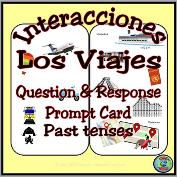 Travel and Vacation Bilingual Question and Answer Prompt Card