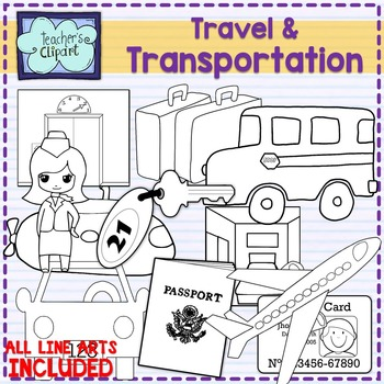 Travel and transportation clipart