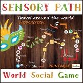 Travel around the World, Continents Path Set, Printable fl