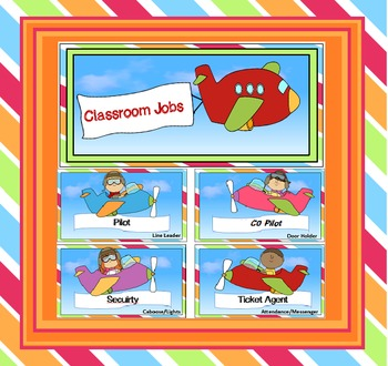 Travel or Around the World Classroom Jobs - Back to School
