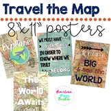 Travel | Map Theme | Classroom Posters | Decor
