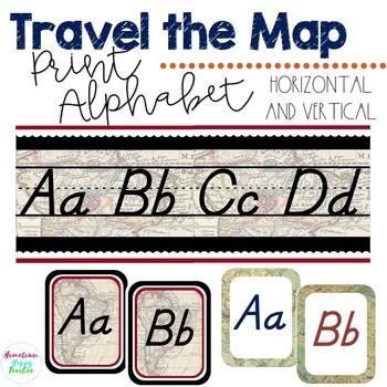 Travel the Map Print Alphabet
