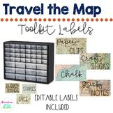 Travel | Map Theme | Teacher Toolkit | Labels | EDITABLE