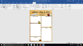 Travel the World Theme Class Newsletter (editable)