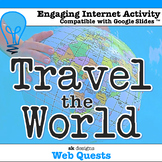 Travel the World Web Quest Country Unit for classroom & di