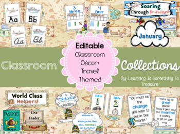 Travel Theme Classroom Decor Editable By Learning Is Something To