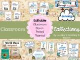 Travel theme classroom decor: *EDITABLE*