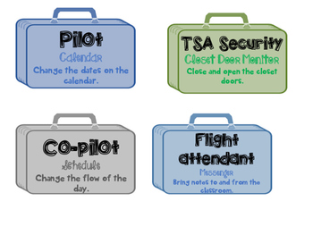 Travel theme job labels