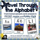 Travel-themed Alphabet Wall Cards
