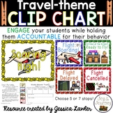 Travel-themed Behavior Management Clip Chart