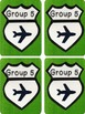 Travel-themed Grouping Cards (for groups of 4) FREEBIE