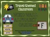 Travel themed Word Wall Alphabet Cards