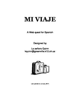 Spanish Travel webquest Mi viaje