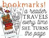 Traveler Bookmarks, Welcome Back Gift, Reader Gift