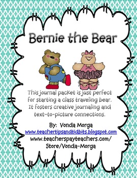 Traveling Bear or Stuffed Animal Project
