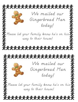 Traveling Gingerbread Man